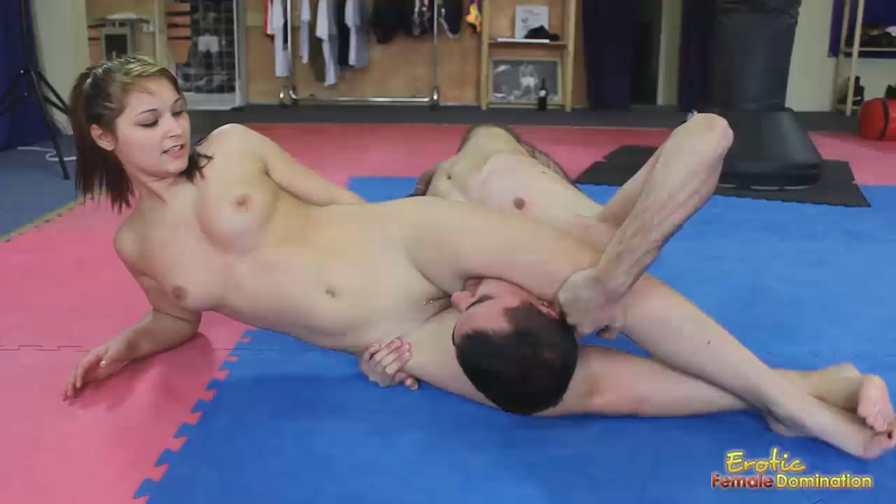 Teen girl mixed wrestling and the series of