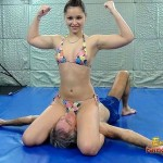 Scissor queen goes on – mixed wrestling