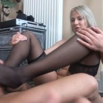 Viktoria Diamond teases her slave with some hot erotic foot domination