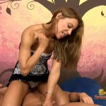 Tough Mistress spanking and humiliating her slave