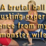 A brutal ballbusting experience from my monster wife