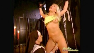 Innocent Blonde Tricked By Nasty Nun