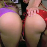 Two Bikini Wearing Dominatrices Beg For Ass Worship