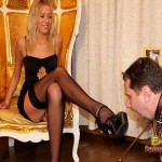 Slave Sniffs Beautiful Mistresses Stilettos