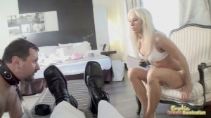 Collared Slave Licks Another Male's Shoes Clean