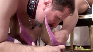 Aleska Diamond with Catty Heaven Having Their High Heals Licked Clean