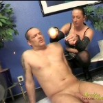 Spanking Session After Hot Wax Dripping With Mature Domme