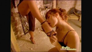 Sexy Slave Gets Her Round Ass Spanked With Whip