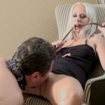 Power Hungry Lady Gets Obedient Boy To Eat Her Out