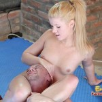 Zora White Strips Naked And Pins Her Male Pet To The Floor