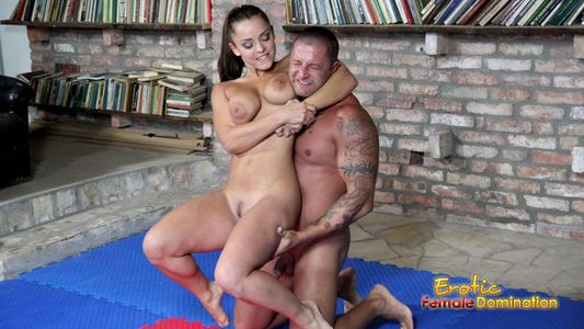 Guy massaged by milf