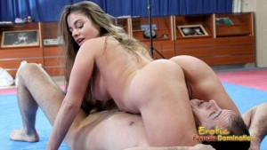 Man Wrestles For A Chance To Fuck Girl – Cathy Hevaen vs James