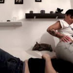 Sweat Pants Smothering With Horny Tattooed Wife