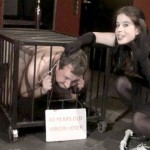 Goddess Gloria Cages Her 40 Year Old Virgin Loser