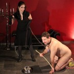 Slave Frank Is Walked In The Leash Like A Dog