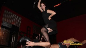 Slave Is Being Trampled By A Heavier Mistress Gloria