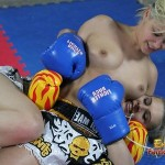 Blonde Beauties Have Topless Thai Boxing Bout