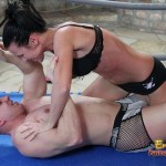 Man Gets Tag Team Wrestled By Two Hot Ladies