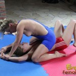 Wrestling Babes Get It On In The Basement