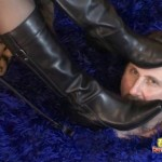 Loser Licks His Wifes Boots And Her Bulls Shoes