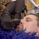 Loser Of A Husband Licks His Wife's Boots While Sweating