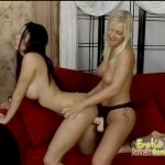Blonde and brunette lesbians seeking mind numbing pleasure