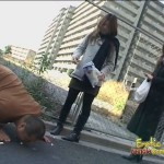 Two not so cute asian femdoms punish trampling slave