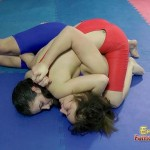 Busty Female Wrestlers Sparring Totally Naked