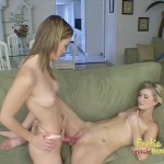 Half sister fucking girl with strapon