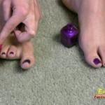 Nail Polish And Painting With Cute Mistress Toes
