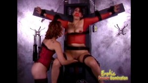 Orgasmic Torture With A Hot Redhead Mistress And Lesbian Play