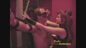 CBT Mistress Is Playing With Slave's Genitals