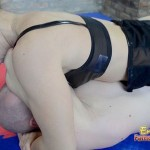 Dominatrix Humiliated After Long And Hard Wrestling Match