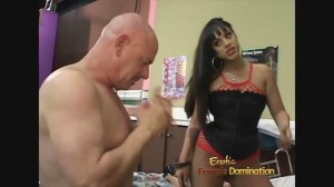 Extremely sexy Latin porn star dominating older guy