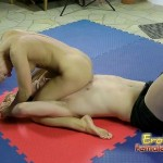 Naked Sexy Girl Teaching Slave What is Femdom Wrestling