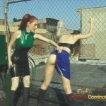Redhead Fetish Lezdom Dominatrix Whipping Girl
