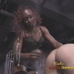 Strong black dominatrix spanking white girls