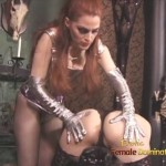 Tall Lezdom Dominatrix Playing With Slave Girl's Nipples