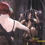 Two Lesbian Dommes Pouring Hot Wax On Slave