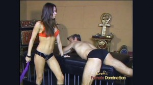 Bossy Mistress Vanessa Tortures A Caged Slave