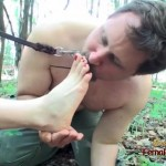 Outdoor foot domination and feet smelling
