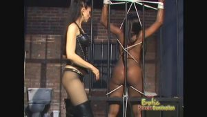 Curvy Ebony Slave Dominated In A Jail Cell
