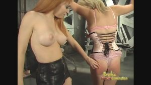 Topless Mistress Shows No Mercy For Her Slave