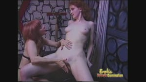 Sexy Mistress orders one of her redhead slaves to dominate the other