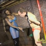 Dominant Nyomi Banxxx makes a man strip and dance for her amusement