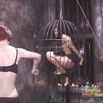 Young hottie tortured by her two kinky friends
