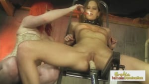Amazing lesbian enjoys getting pleased with a big dildo