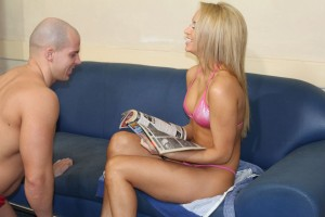 Naughty toy finds its way in a tease and denial game