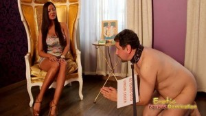 Collar Guy Verbally Abused By Hot Euro Mistress