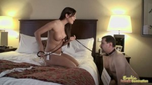 Mistress Humiliates Guy Wearing Dog Collar